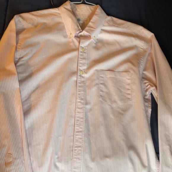 J Crew Mens Large Classic Button Down Cotton Shirt